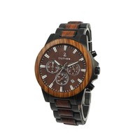 Wholesale Wood with stainless steel men's watch Custom Logo Cheap Handmade china Wooden Wrist Watch