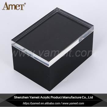 Hot Sale Fashionable Custom Acrylic Display Case With Shiny Lid