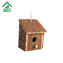 outdoor wooden bird house cage with solar light