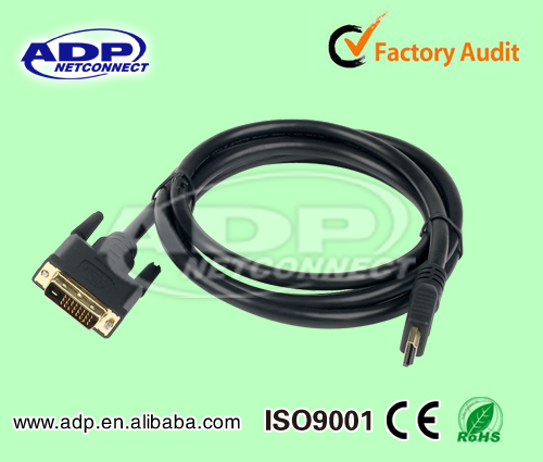 Perfect Quality HDMI to DVI Cable With Cover 1080P