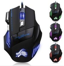 Professional Wired Gaming Mouse 7 Button 5500 DPI LED Optical USB Gamer Computer Mice Cable Mouse High Quality MK100