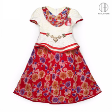 690-1Rose Red Yiwu Haolaiyuan Newest design top quality baby girl flower african party dress