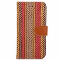 Colorful Painted Woven Pattern PU leather Phone Case With Card Slot Back Cover For iPhone 7/Plus