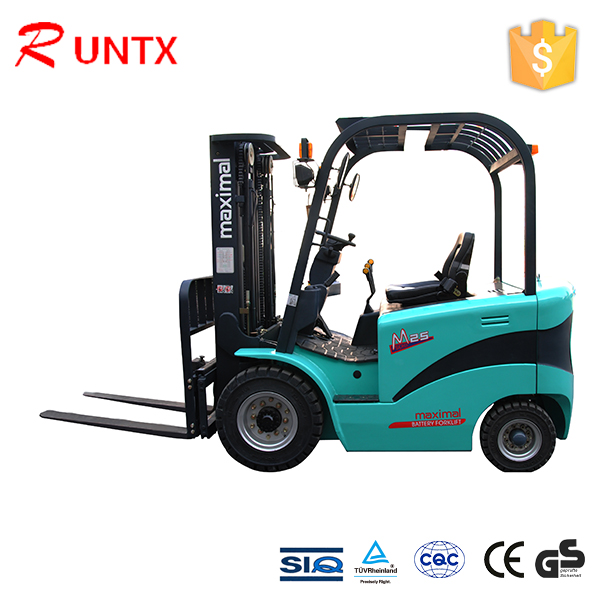 Rechargeable battery small electric forklift with 1000kg capacity