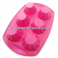 Jello Bread Desserts mold 6 cavity silicone baking muffin tin Arts and Crafts of Baking flex nonstick Muffins Cupcakes maker