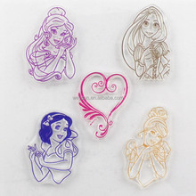 Clear Rubber Stamp Princess Character Transparent Stamp DIY Scrapbooking/Card Making Decoration Supplies