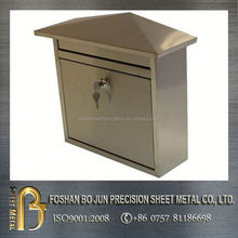 customized metal manufacture copper material mailbox with lock OEM ODM farbricating service