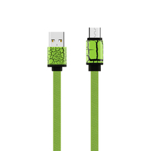 FASHION Leopard Print Flat Noodle Micro USB Data Cable 1m Mobile Phone Cables fast charging for Samsung S6 S5 S4 HTC Lenovo