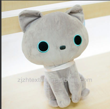 big eyes cat toys, biggest blue eyes plush cat toys