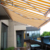 retractable awning with rain gutter