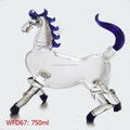 2015 new products of Handblown painting horse shaped glass bottle