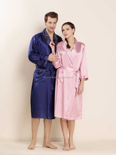 Attractive Silk Men's Women's Pajama Robes Pure Silk Couple Bathrobes