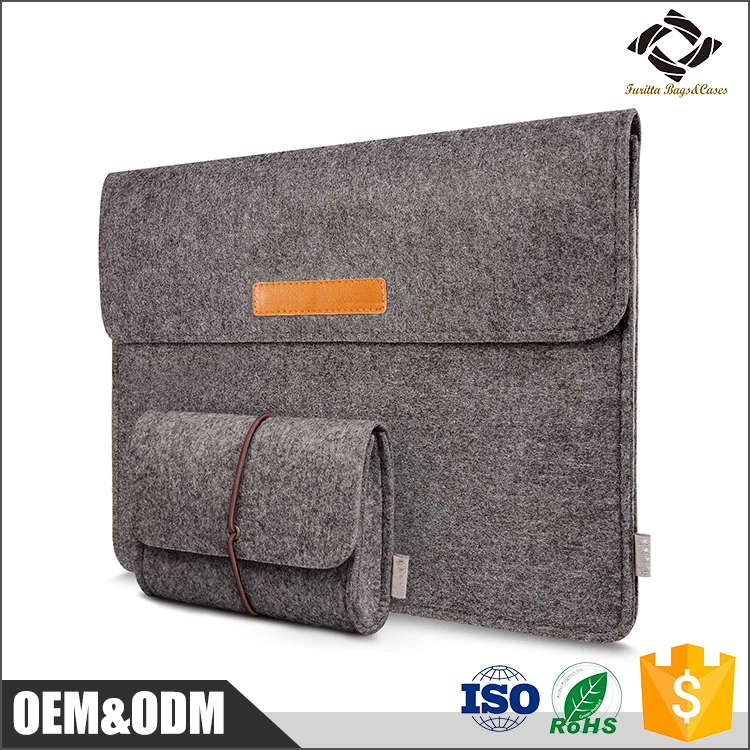 High quality felt sleeve carring bag case ultrabook laptop protect bag for MacBook Pro / MacBook Air 13''' inch