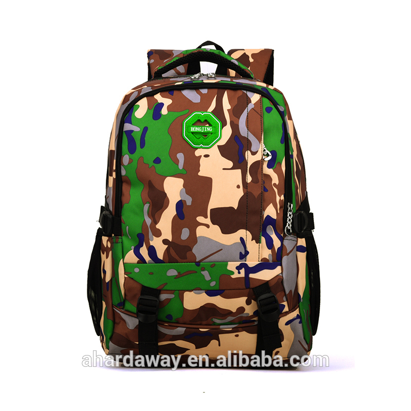 Wholesale new durable 600d camouflage school backpack