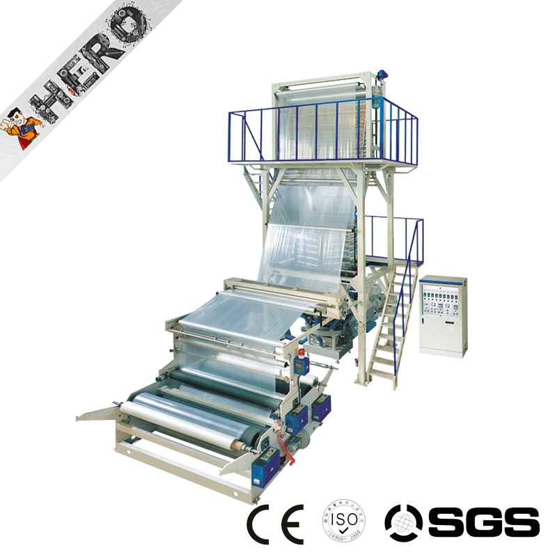 SJ-C75 LDPE/HDPE Polyethylene Plastic Three Layer Film Blowing Machine Price Film Blow Mould Machine