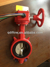 UL FM Valvula 200PSI Ductile Iron Butterfly Valve with Singal Box
