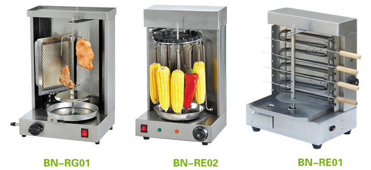 Stainless steel portable gas shawarma Machine /Mini doner kebab machine BN-RG05