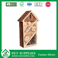 Outside wooden insect nest bee box