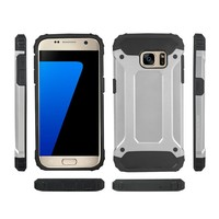 Heavy Duty Shockproof Hybrid Armor Cellphone Case For Samsung Galaxy S7 & Edge
