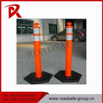 Traffic Warning 1100mm Sign Reflective Warning Post Delineator Post T-Top Bollard