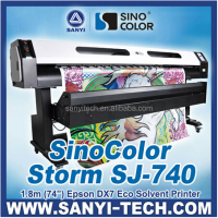 China Made With Epson DX7 Eco Solvent Plotter/Printer 1.8m With Epson DX7 Heads 1440dpi