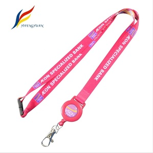 Polyester Newest Style Stock Custom Logo Sports Lanyard With Badge Holder