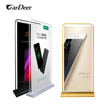 Hot sale 80x180cm banner metal door type display rack for mobile phone store