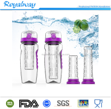 Royalway Infuser Water Bottle Sport Flip-Top BPA-Free Tritan Large 32 Oz Fruit Infusing Detox Bottle