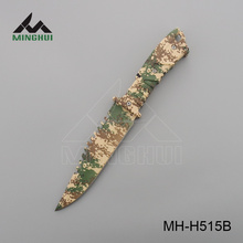 High quality army camo coated hunting survival knife