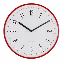 TAIWAN silent electronic movement red plastic wall clock