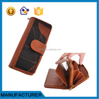 China good supplier hot-sale custom patchwork leather wallet for wholesales