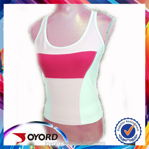 2017 OEM Guanzgzhou newest 100% polyester heat transfer Tops Vest Gym Running Women Singlet Shirts free sizes and colors