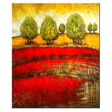 Hot selling art picture hand painted on canvas tree scene oil painting SG-180