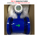Mud barrier-free magnetic flow meter with transmitter calibration standard