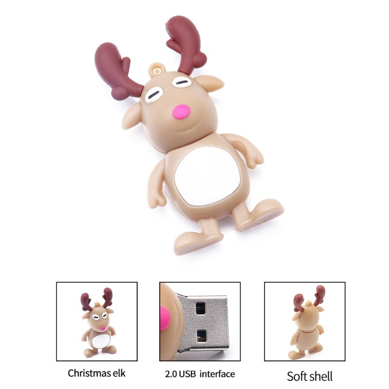 USB Flash Drive 128GB Cartoon Christmas Gift Christmas elements USB Flash Memory Stick Pen Drive Pendriv