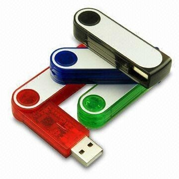 Plastic Rotate Flash Drive Swivel USB 2.0 Gifts for Company Promotion