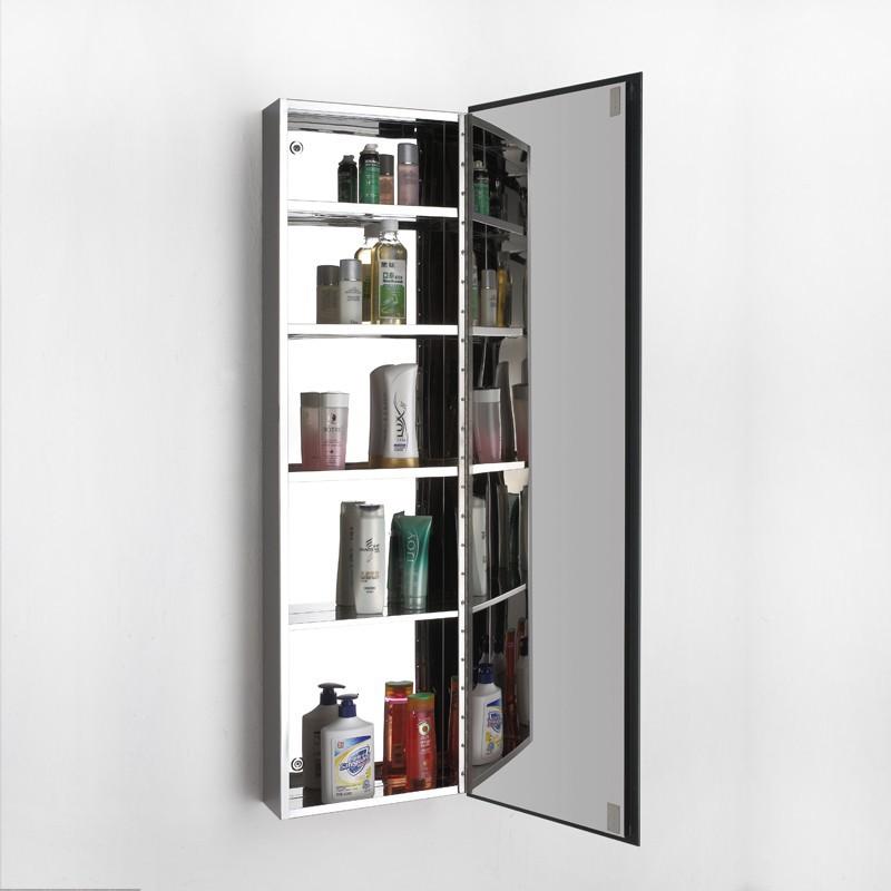 Stainless steel japanese bathroom storage mirror cabinet for Bathroom 94 percent