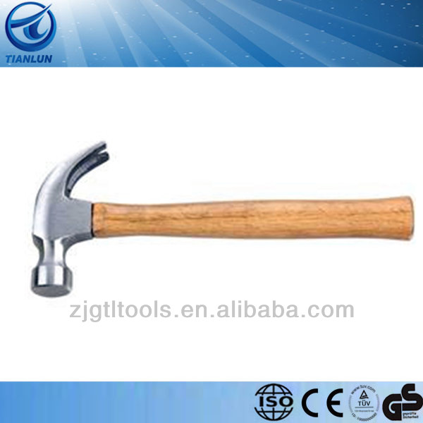competitive price American type claw hammer with wooden handle