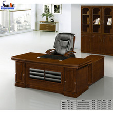 Latest designs wooden director executive l shaped office table