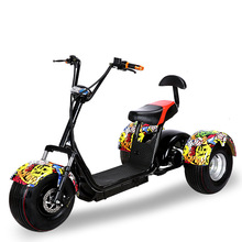 2017 60V 12ah Hal Fat Tire Electric Motorcycle Scooter Two Wheels Mini Chopper Electric Scooter