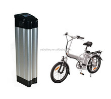 Lithium E-bike battery pack 48V 10Ah Silver Aluminium case ebike