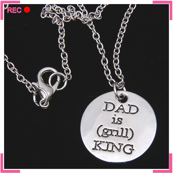 Cheap dog tag necklaces for dad, custom letters new model necklace