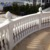 Classic western house exterior marble balcony balustrade design beige stone stair railing for sale