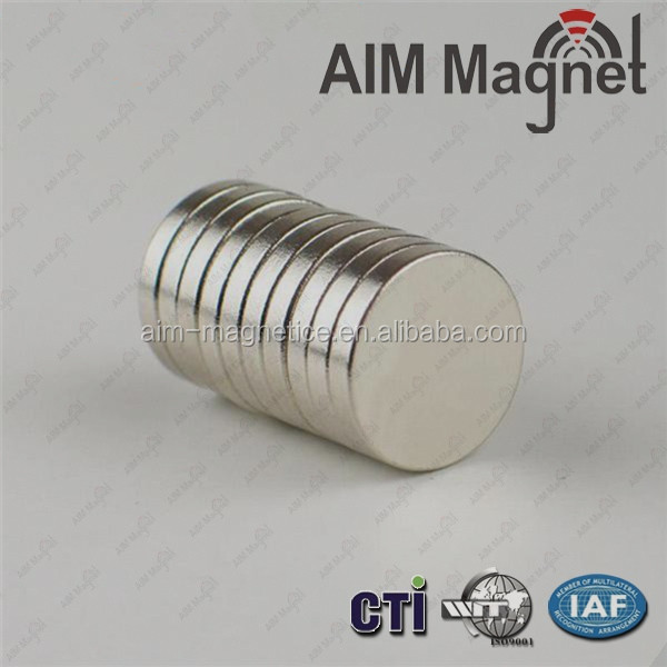 "3/4""x 1/8"" Round North Pole Marked Neodymium Rare Earth Magnet"