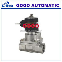 teflon stainless valves for steam Pilot operated Solenoid Valve