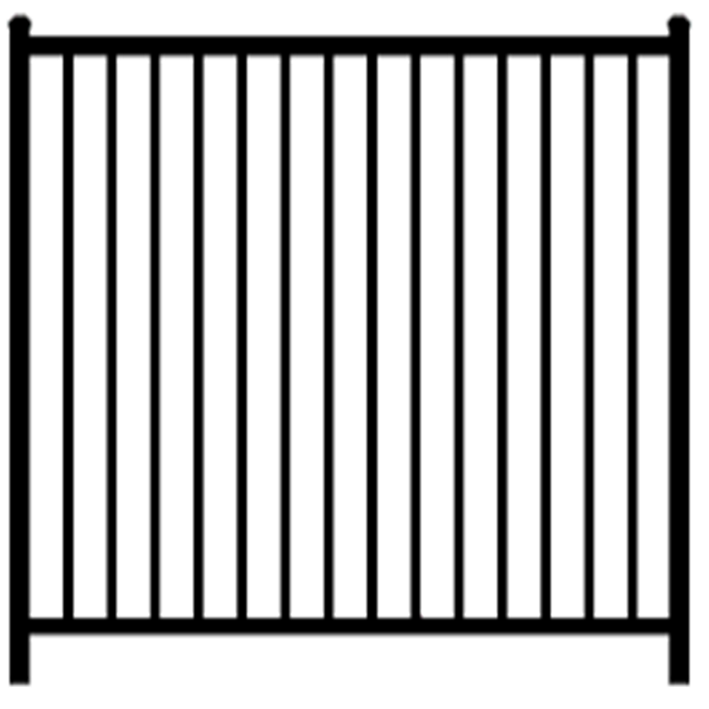 1 inch rail cheap metal fence with 5/8 inch balusters