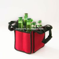 6 Packs Neoprene Wine Bottle Bag