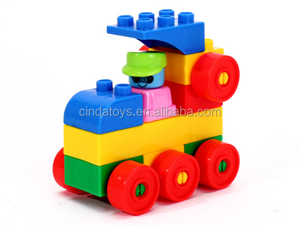 Good quality intelligence toys,city building blocks box Colourful plastic blocks,diy kids toys blocks game for sale