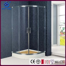 Fan-shape Aluminum Hotel Sliding Seal Strip Shower Door Cubicles (KT6309)