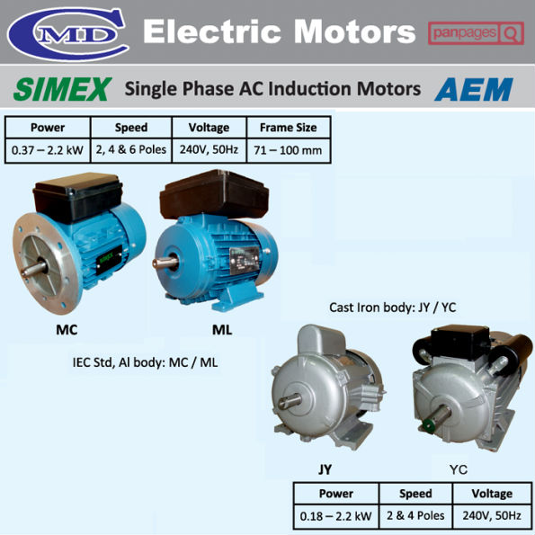 SIMEX Single Phase AC Induction Motors AEM